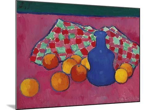 Blue Vase with Oranges, 1908-Alexei von Javlensky-Mounted Giclee Print
