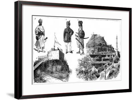 Afghans and Images of Hyderabad, Central India, 1888--Framed Art Print