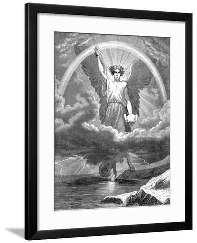 The Angel with the Book, Bible Revelation 10:1-6, 1860--Framed Art Print