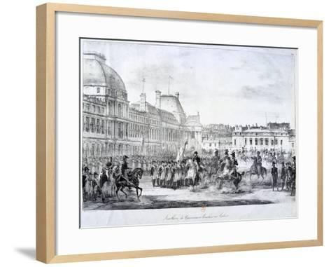 Installation of the Government at Tuileries, 19th Century--Framed Art Print