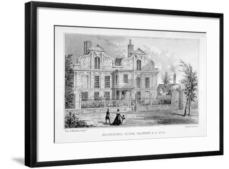 View of Shacklewell Manor House, Hackney, London, C1830-Dean and Munday-Framed Art Print