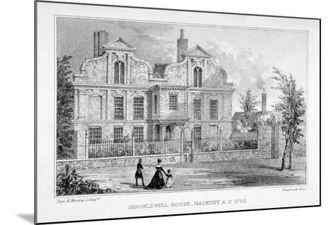 View of Shacklewell Manor House, Hackney, London, C1830-Dean and Munday-Mounted Giclee Print
