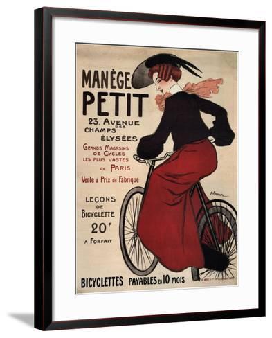 Manège Petit, 1899-Adrien Barrère-Framed Art Print