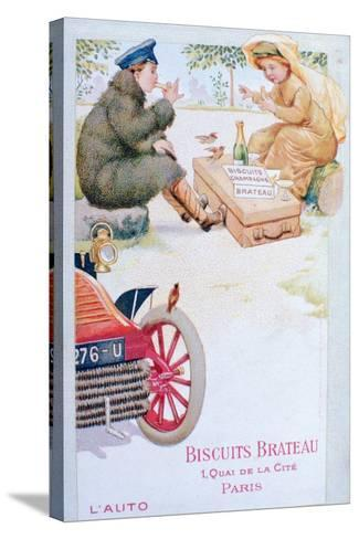 Advert for Biscuits Brateau, C1900s--Stretched Canvas Print