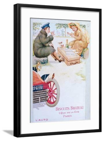 Advert for Biscuits Brateau, C1900s--Framed Art Print