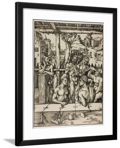 The Men?S Bath, C. 1496-Albrecht D?rer-Framed Art Print