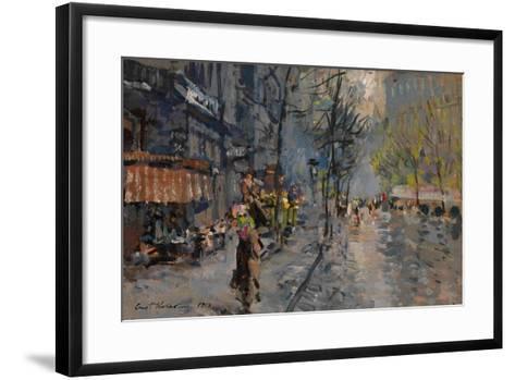 A Street in Paris, 1918-Konstantin Alexeyevich Korovin-Framed Art Print