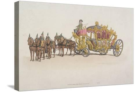 Lord Mayor's Coach Pulled by a Team of Six Horses, 1805--Stretched Canvas Print