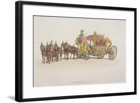 Lord Mayor's Coach Pulled by a Team of Six Horses, 1805--Framed Art Print