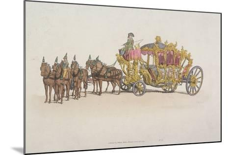 Lord Mayor's Coach Pulled by a Team of Six Horses, 1805--Mounted Giclee Print