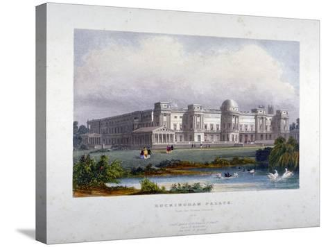 View of Buckingham Palace, Westminster, London, C1830--Stretched Canvas Print