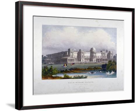 View of Buckingham Palace, Westminster, London, C1830--Framed Art Print
