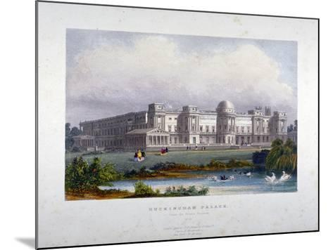 View of Buckingham Palace, Westminster, London, C1830--Mounted Giclee Print