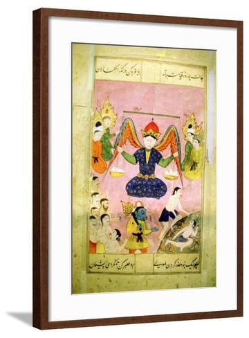 Arab Manuscript Depicting an Angel Weighing a Soul--Framed Art Print