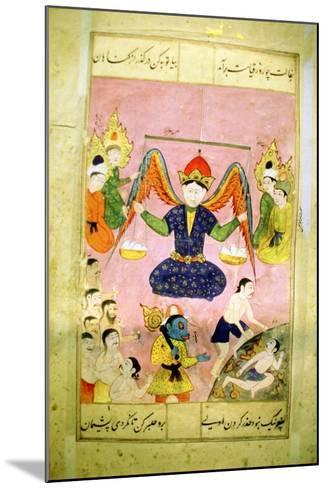 Arab Manuscript Depicting an Angel Weighing a Soul--Mounted Giclee Print