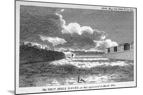 View of West India Docks, Poplar, London, 1802--Mounted Giclee Print