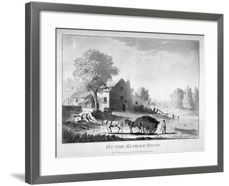 Horse and Cart on the Eltham Road in Woolwich, Kent, 1788--Framed Art Print