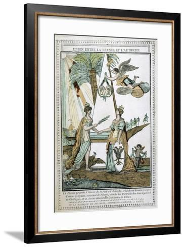 The Union Between France and Austria, 19th Century--Framed Art Print