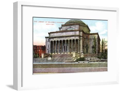 Columbia University Library, New York, USA, C1900s--Framed Art Print