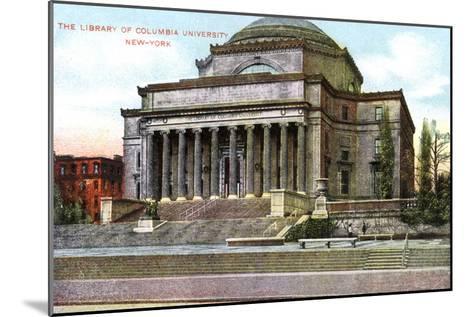 Columbia University Library, New York, USA, C1900s--Mounted Giclee Print