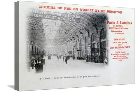 Saint-Lazare Station, Paris, C1900--Stretched Canvas Print