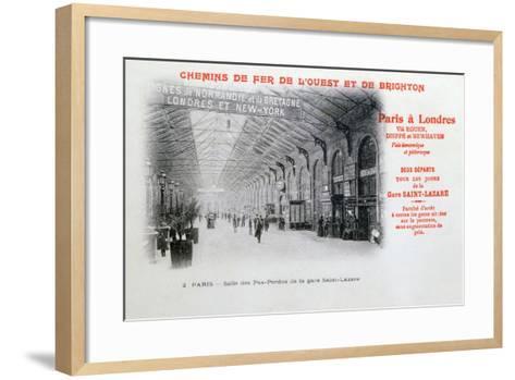 Saint-Lazare Station, Paris, C1900--Framed Art Print