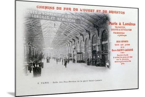 Saint-Lazare Station, Paris, C1900--Mounted Giclee Print