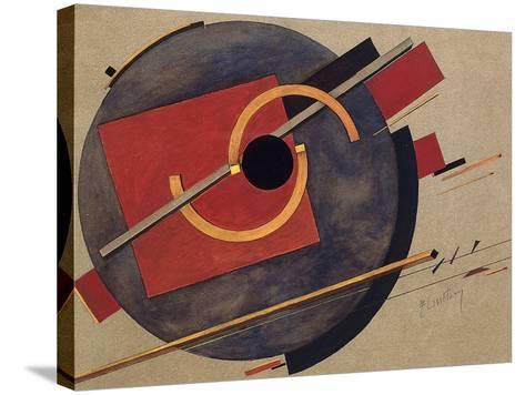Study for a Poster, 1920-El Lissitzky-Stretched Canvas Print