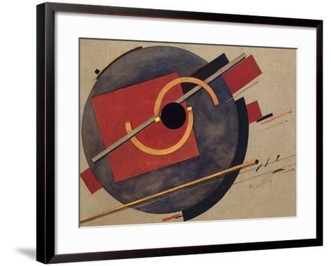 Study for a Poster, 1920-El Lissitzky-Framed Art Print