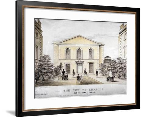 The Tabernacle, Old Street, Finsbury, London, C1850-Ford and West-Framed Art Print