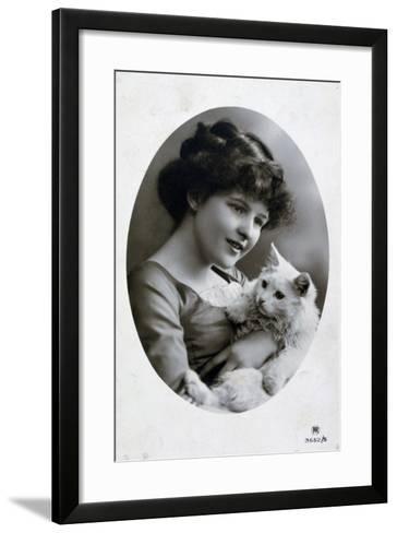 Vintage French Postcard, C1900--Framed Art Print