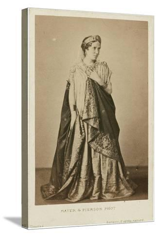 Rachel as Phèdre, Mid of the 19th C--Stretched Canvas Print