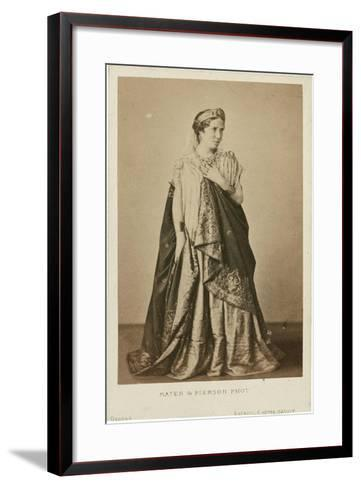 Rachel as Phèdre, Mid of the 19th C--Framed Art Print