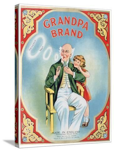 Advert for Grandpa Brand Pipe Tobacco--Stretched Canvas Print