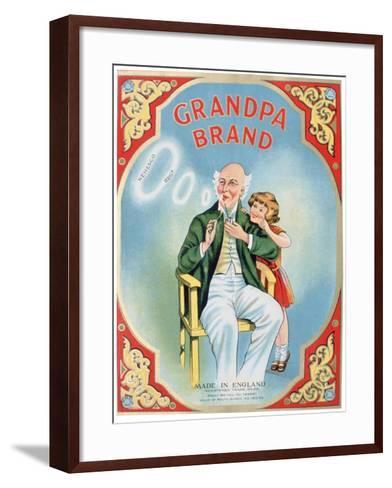 Advert for Grandpa Brand Pipe Tobacco--Framed Art Print