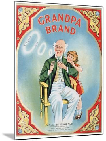 Advert for Grandpa Brand Pipe Tobacco--Mounted Giclee Print