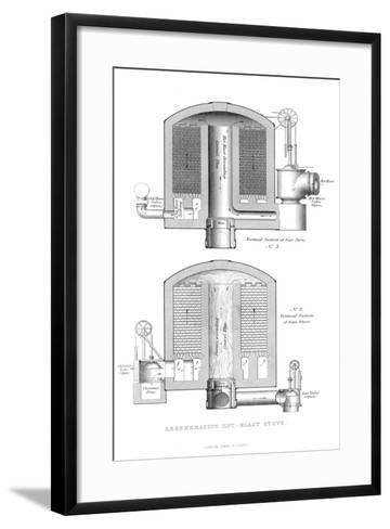 Regenerative Hot-Blast Stove, 1866--Framed Art Print