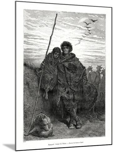 Shepherd of Alava, Spain, 1886-Gustave Dor?-Mounted Giclee Print