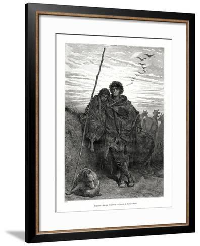 Shepherd of Alava, Spain, 1886-Gustave Dor?-Framed Art Print