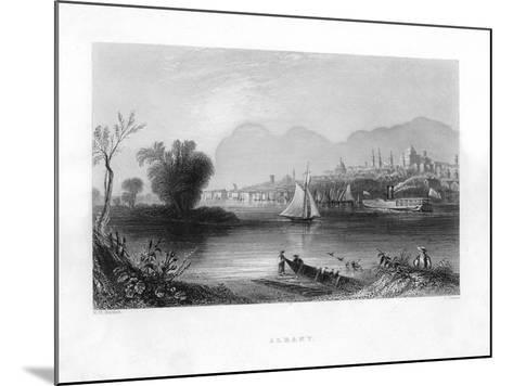 Albany, New York--Mounted Giclee Print