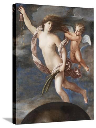 Fortuna and Cupid-Elisabetta Sirani-Stretched Canvas Print