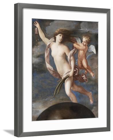 Fortuna and Cupid-Elisabetta Sirani-Framed Art Print