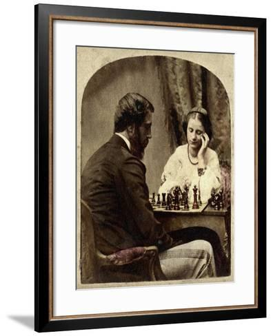 The Chess Players--Framed Art Print