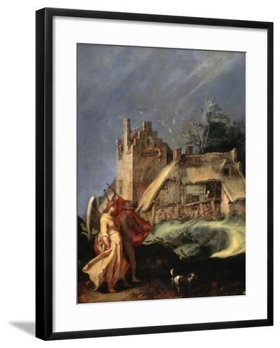 Landscape with Tobias and the Angel, C1610-C1615-Abraham Bloemaert-Framed Art Print