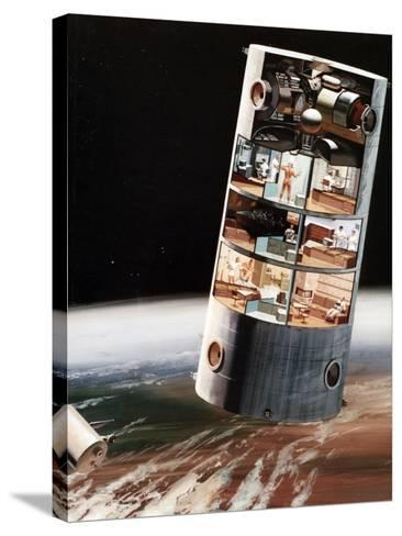 A Futuristic View of Living in Space, C1970S--Stretched Canvas Print