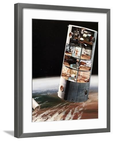 A Futuristic View of Living in Space, C1970S--Framed Art Print