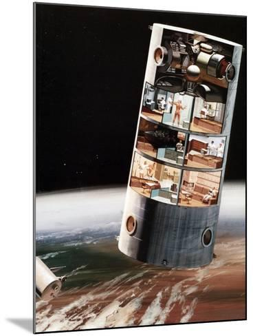 A Futuristic View of Living in Space, C1970S--Mounted Giclee Print