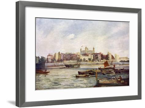 The Tower of London from across the Thames-Andre & Sleigh-Framed Art Print