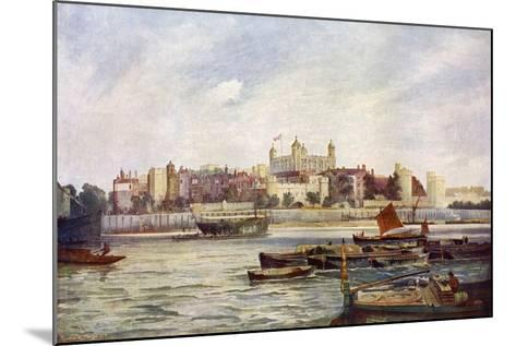 The Tower of London from across the Thames-Andre & Sleigh-Mounted Giclee Print