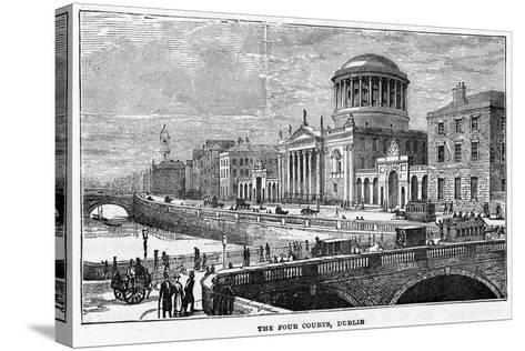 The Four Courts, Dublin, 19th Century--Stretched Canvas Print